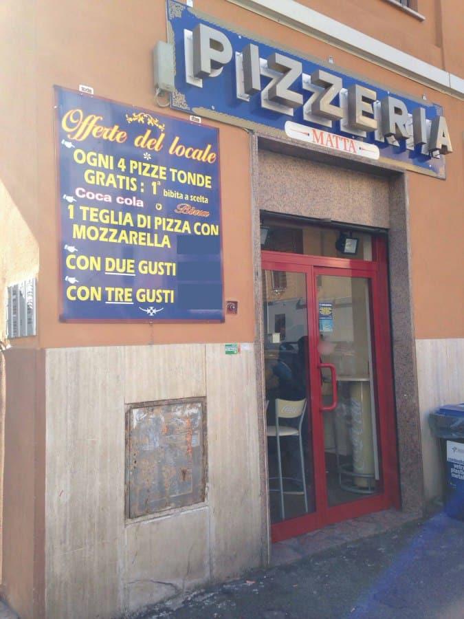 Pizzeria matta a roma foto del menu con prezzi zomato - Pizzeria con giardino roma ...