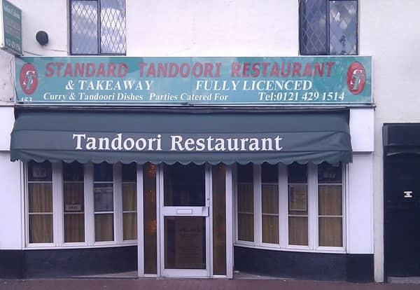 Standard Tandoori Menu Menu For Standard Tandoori Bearwood