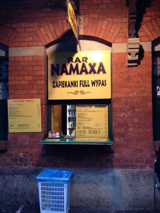 Bar Namaxa Kazimierz Kraków Gastronaucizomato