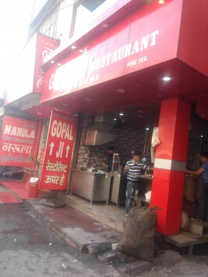 Gopal Ji Restaurant Menu Menu For Gopal Ji Restaurant