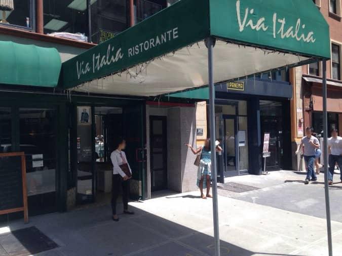 menu menu for via italia midtown new york city urbanspoon zomato