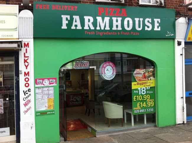 Farmhouse Pizza Edgware London