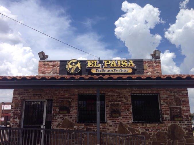 El Paisa Restaurant Dallas Menu