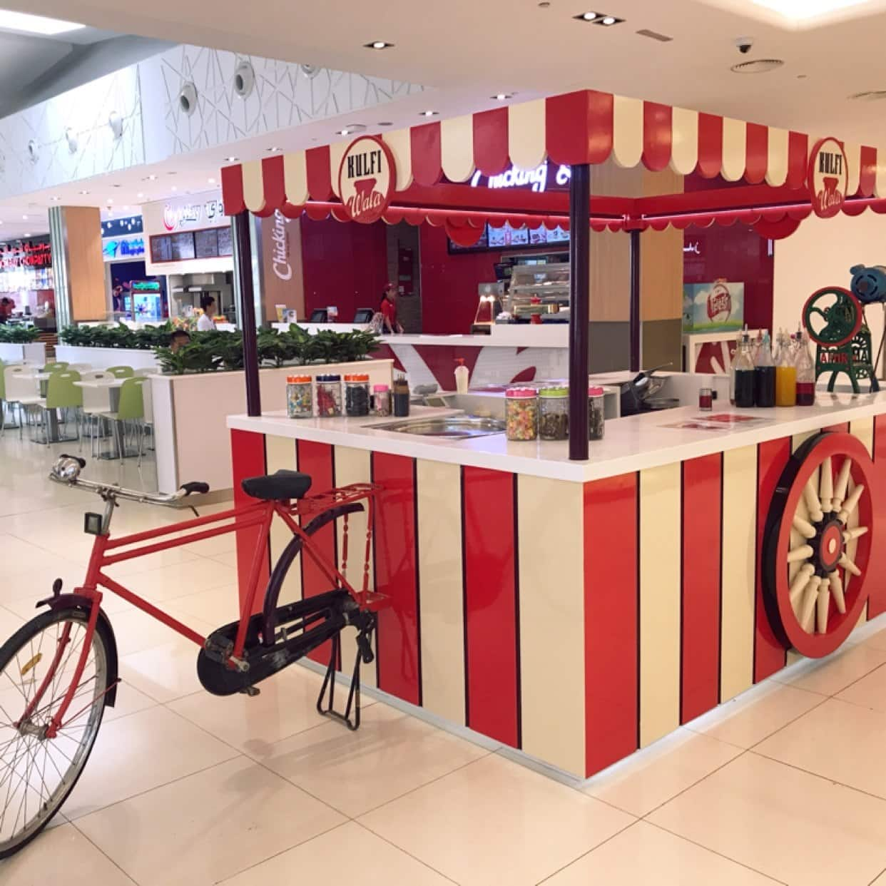 The Kulfi Wala's cart that would usually take rounds of the streets back home, is now parked at the food court of City Centre Al Shindagha in Bur Dubai. do visit Kulfi Wala for a dose of nost