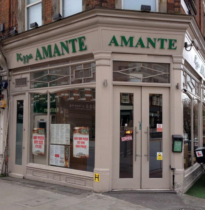 Pizza amante menu menu for pizza amante west hampstead for Amante italian cuisine