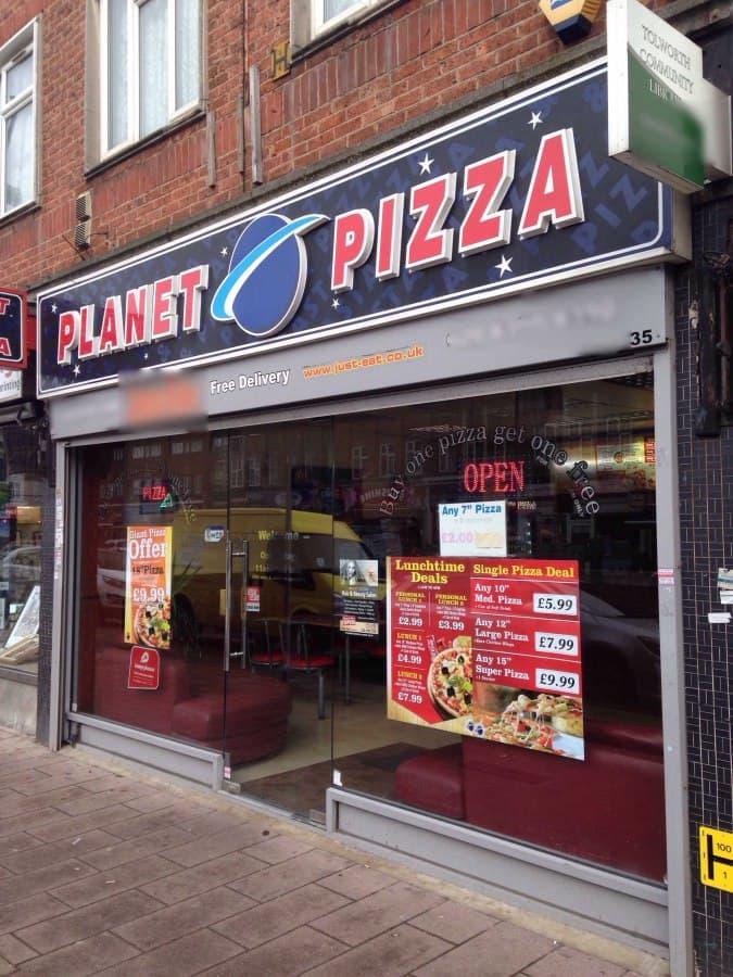 Planet Pizza Menu Menu For Planet Pizza Surbiton London