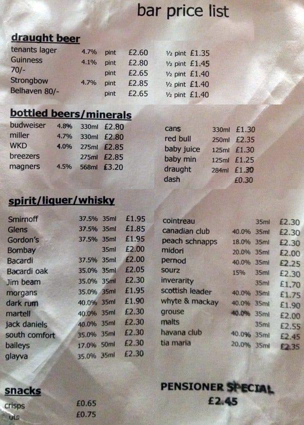 Drink Menu Merchant
