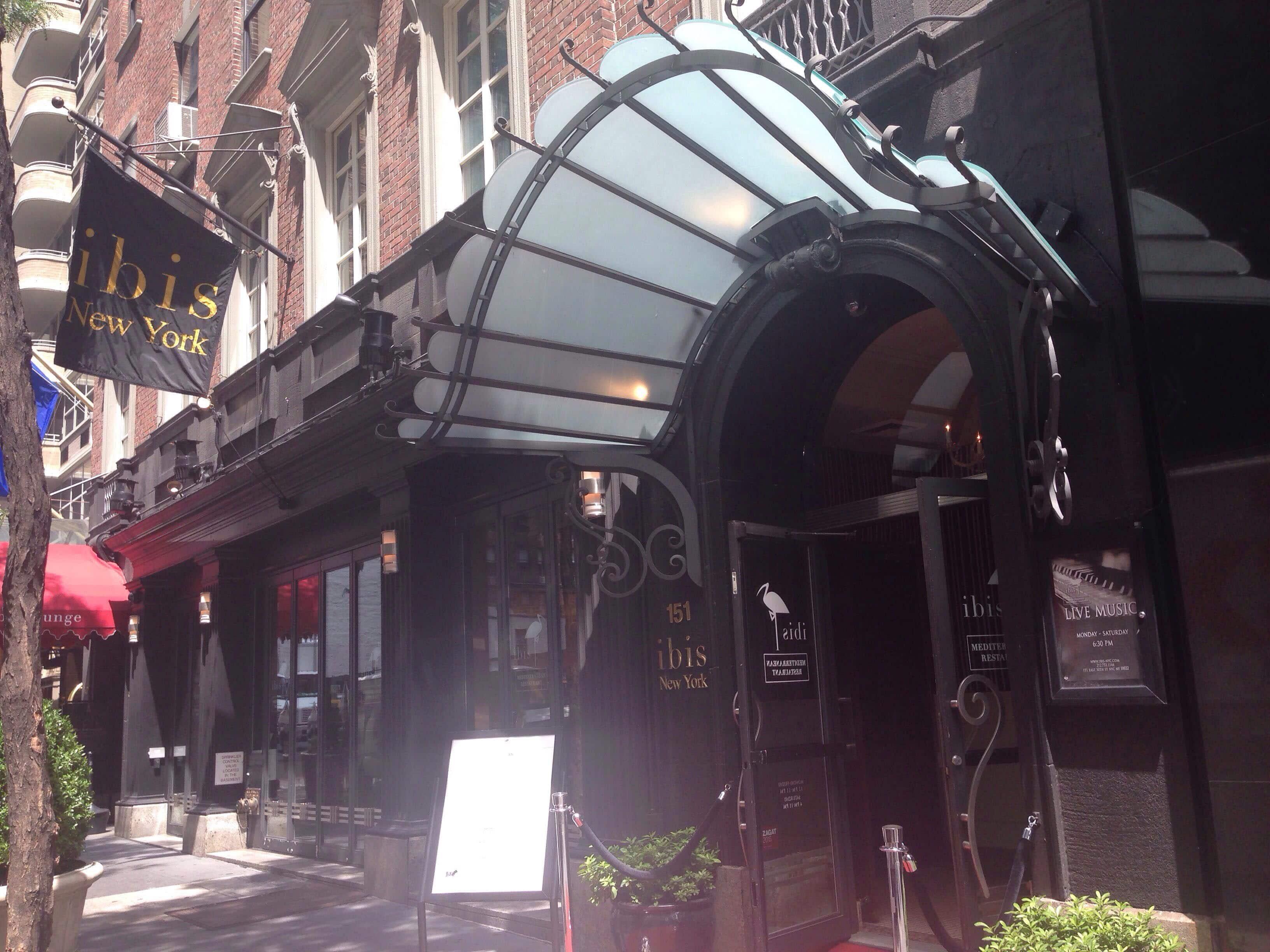 Ibis A New York ibis mediterranean restaurant - the kimberly hotel, new york
