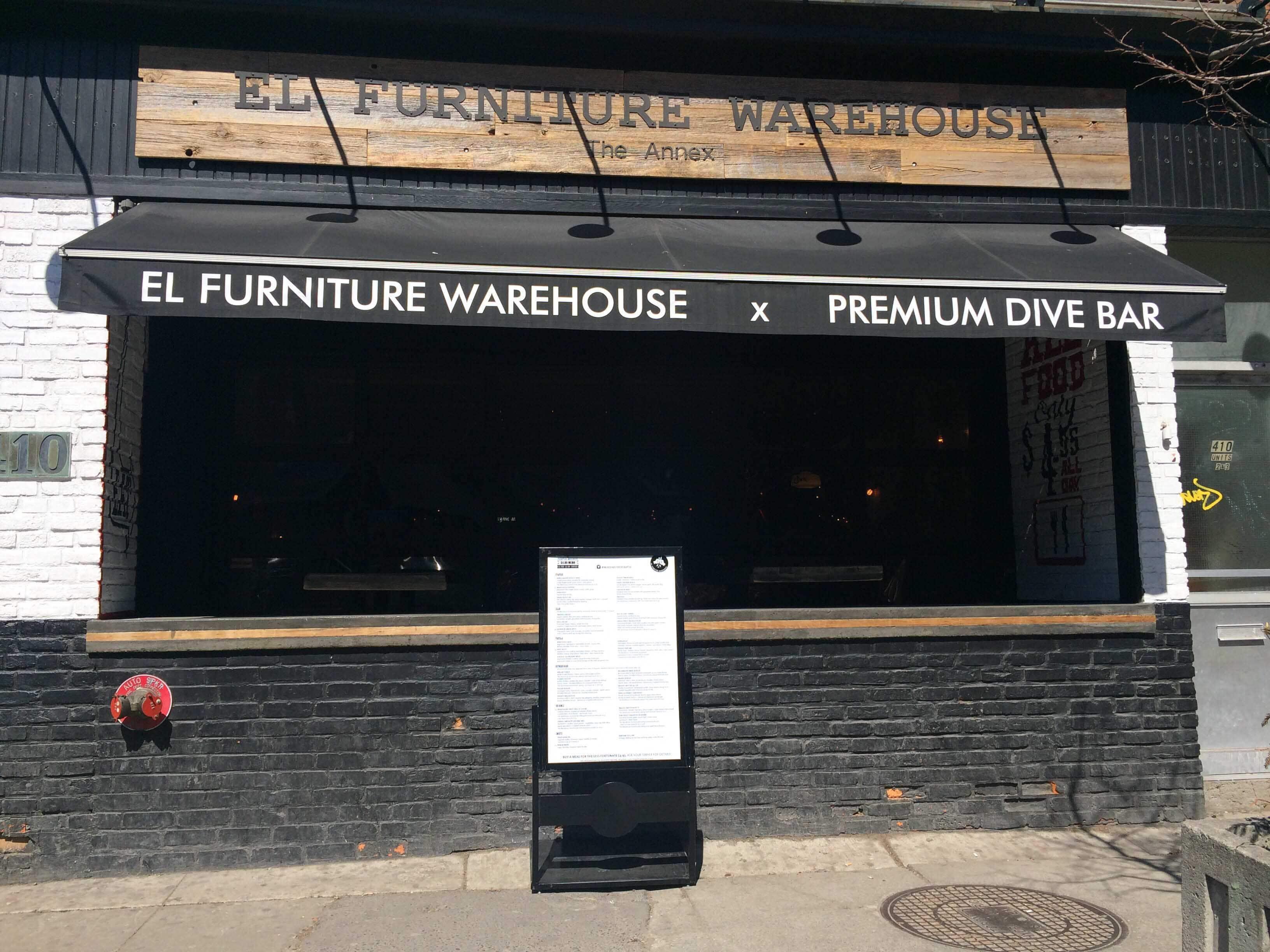 El Furniture Warehouse Menu, Menu for El Furniture Warehouse, The