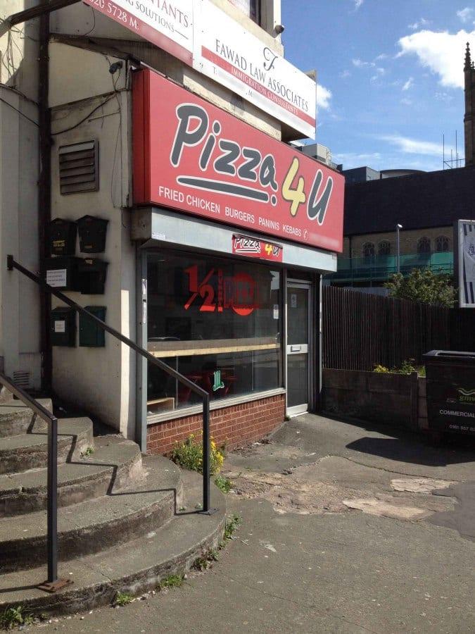 Pizza 4 U Menu Menu For Pizza 4 U Cheetham Hill