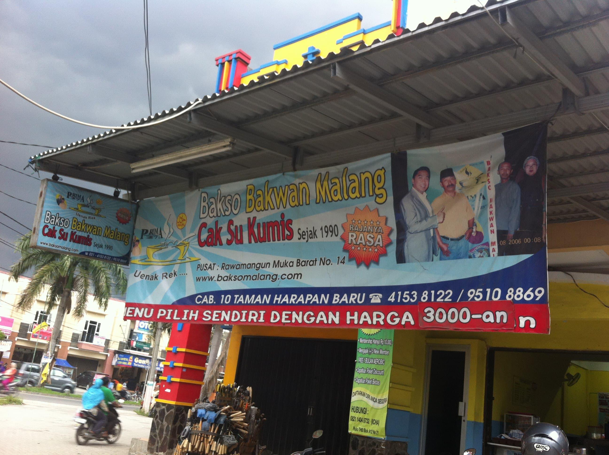 Bakso Bakwan Malang Cak Su Kumis Bekasi Utara Bekasi