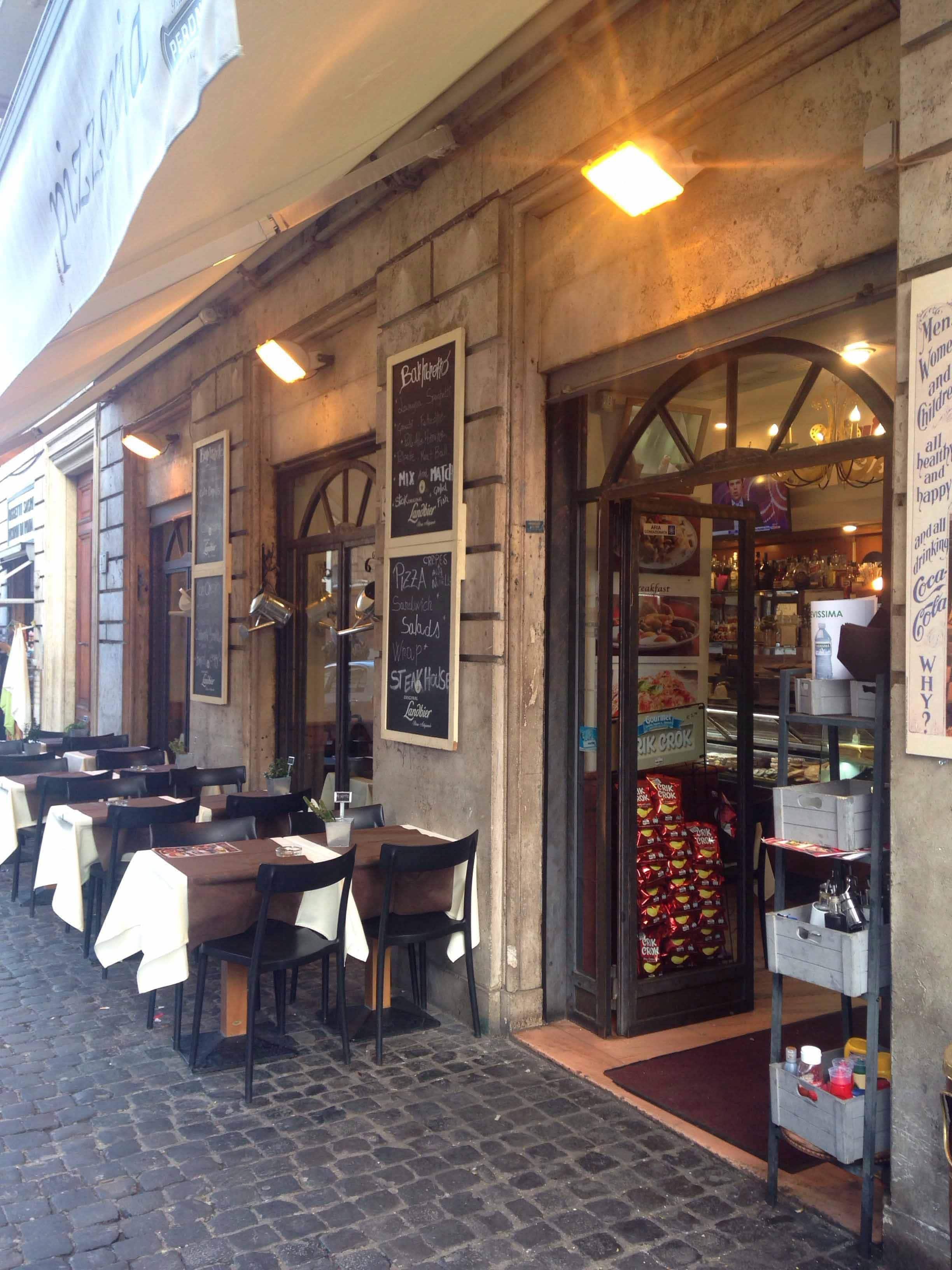 Table H Et H caffè moretto, borgo, roma