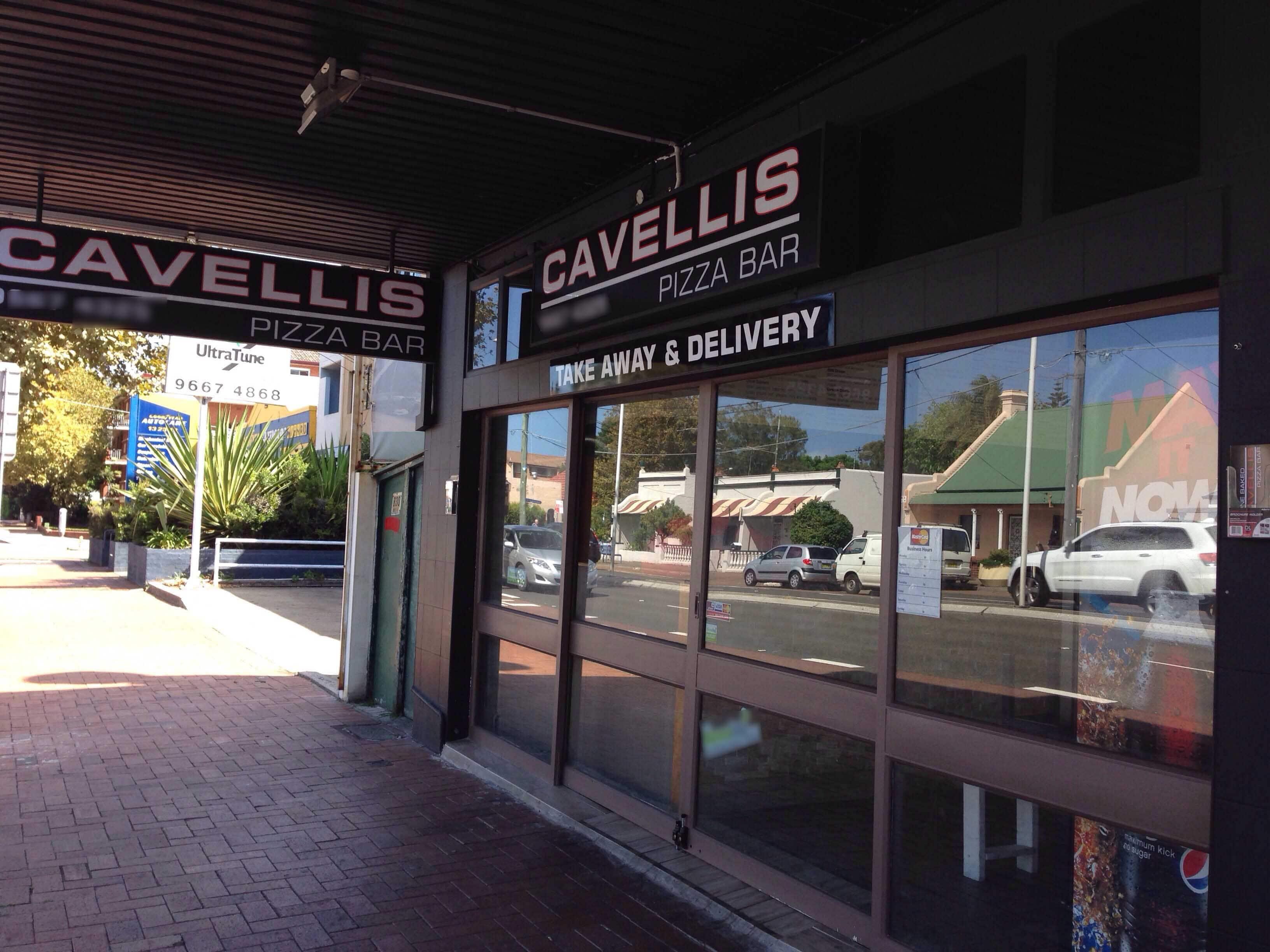 cavellis pizzeria menulog