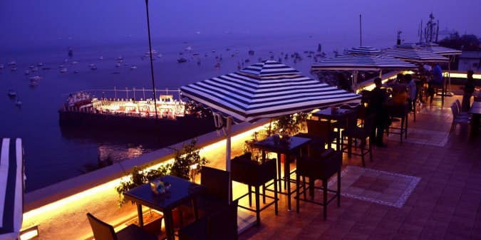 The Marina Upper Deck Rooftop Cafe Sea Palace Hotel