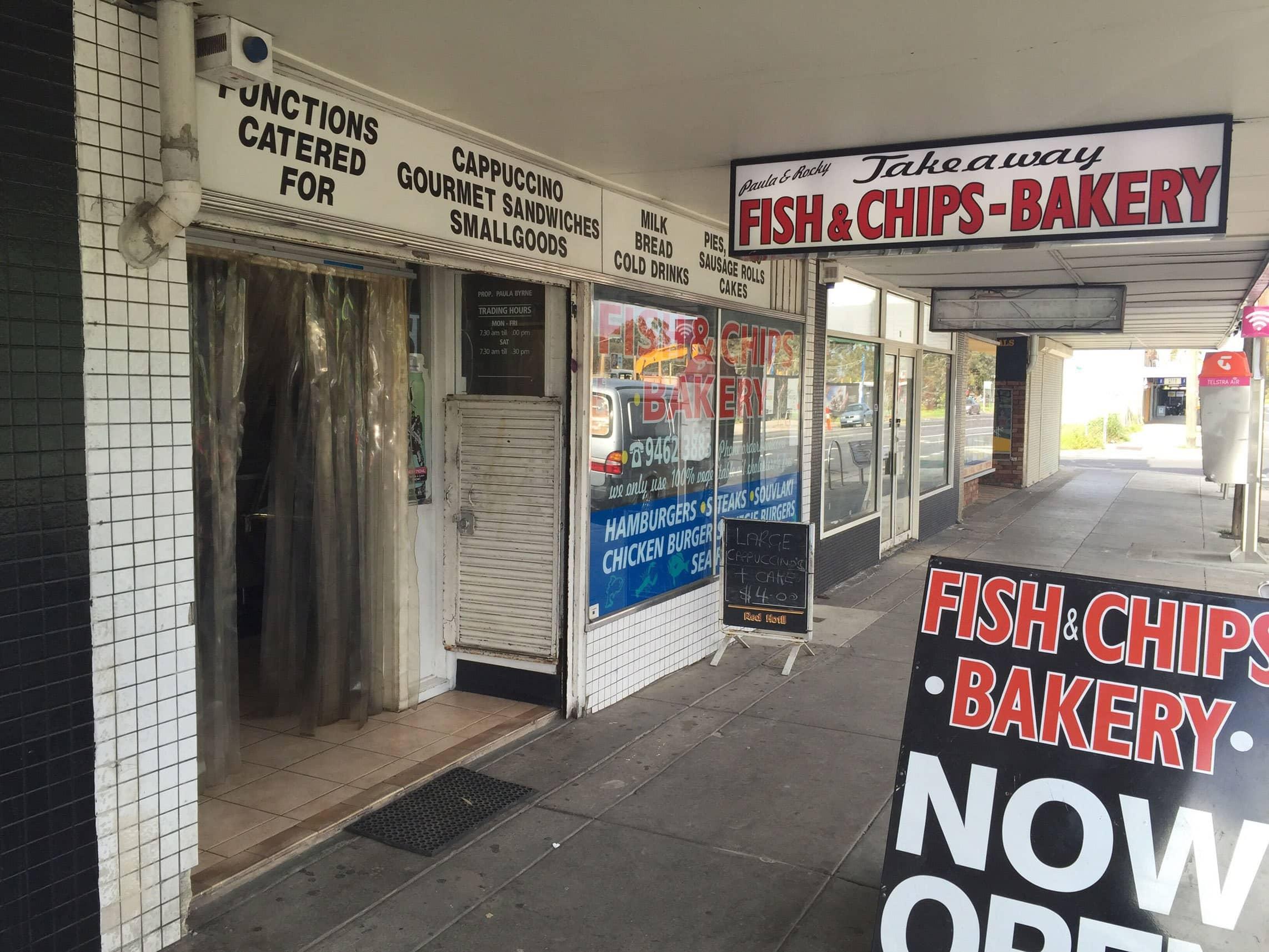 Paula & Rocky Fish & Chips - Bakery | 39 Johnson Street, Reservoir, Melbourne, VIC, Reservoir, Victoria 3073 | +61 3 9462 3883