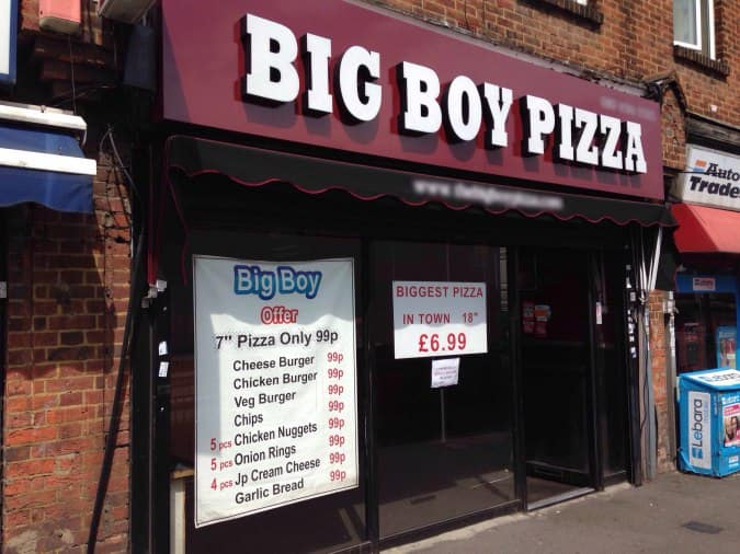 Big Boy Pizza Hayes London Zomato Uk