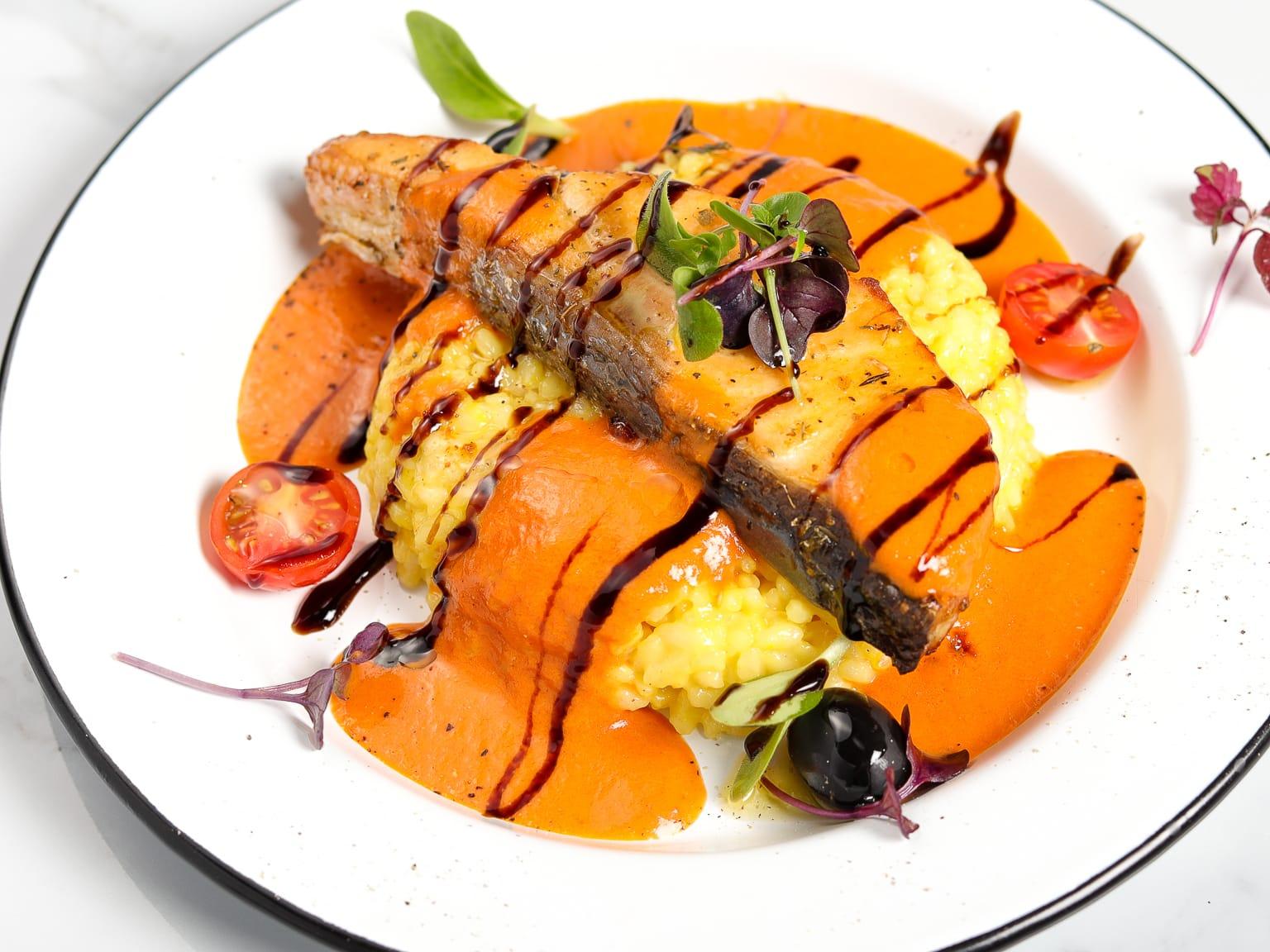 Dubai Style Risotto - Salmon