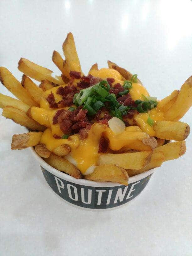 #Double cheese bacon fries