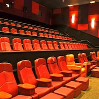 Interior Of The Living Room Theater Showing Seats Ottoman