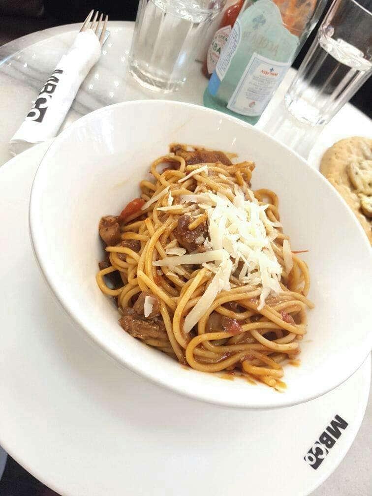 Spicy lamb pasta