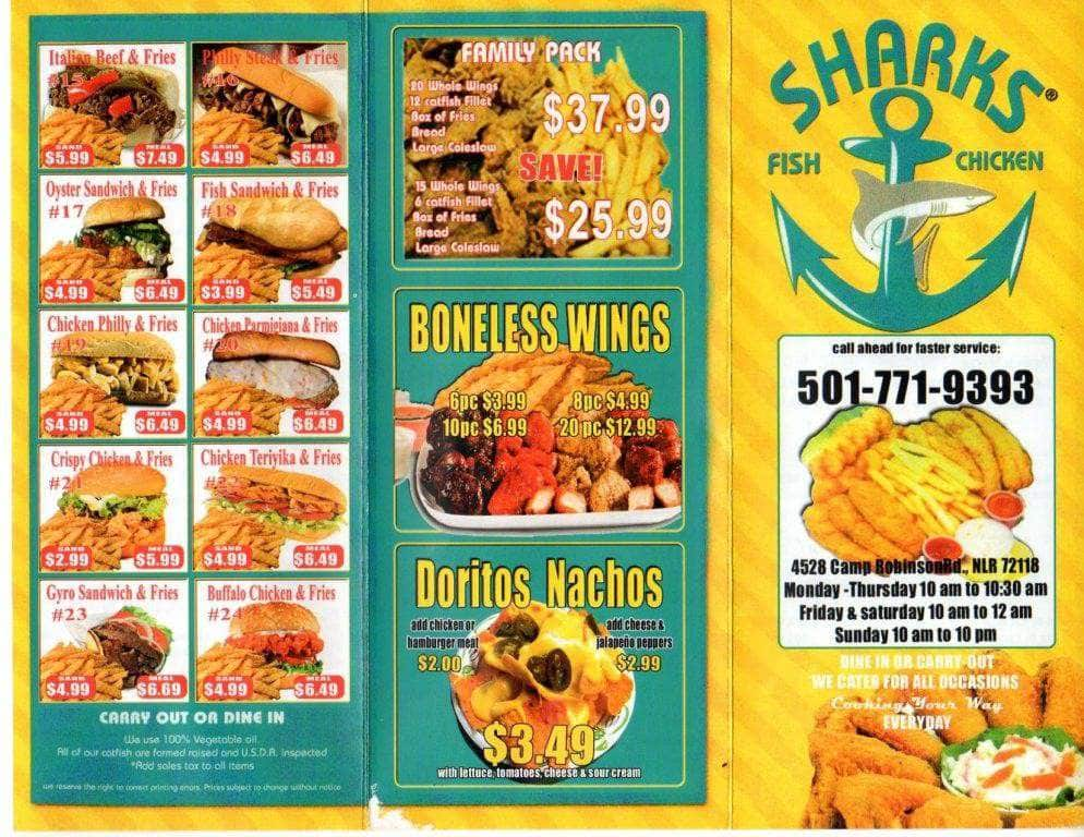 Rick 39 s photo for sharks fish chicken for Sharks fish and chicken menu