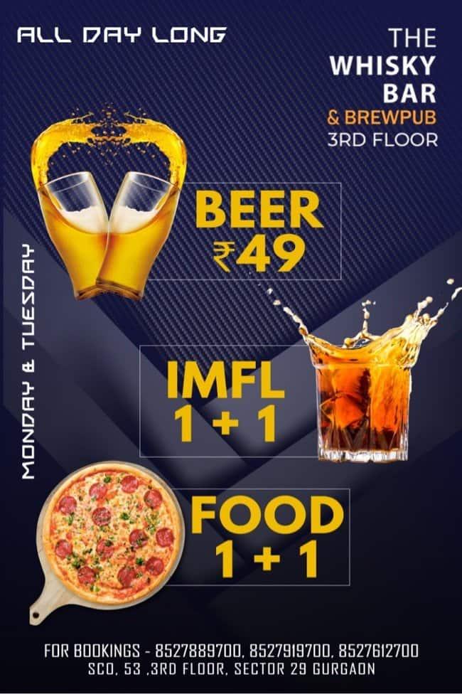The Whisky Bar & Brewpub, Sector 29, Gurgaon - Zomato