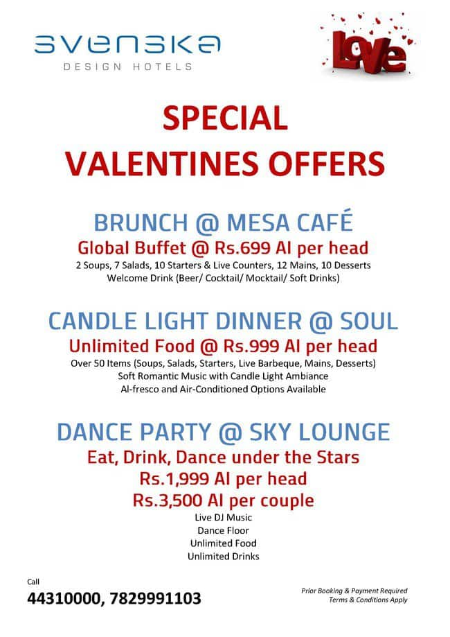 Sky lounge bar svenska design hotel electronic city for 13th floor bangalore candle light dinner