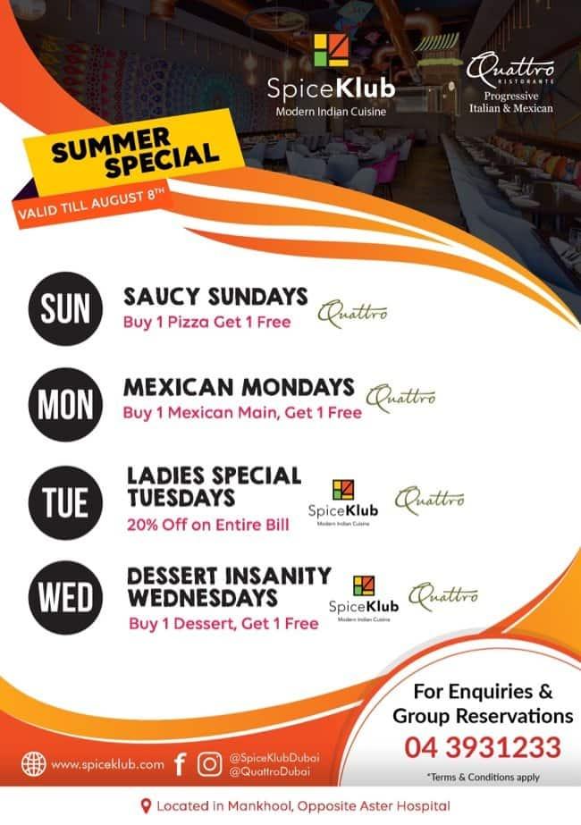 Events at Quattro Ristorante, Mankhool, Dubai - Zomato