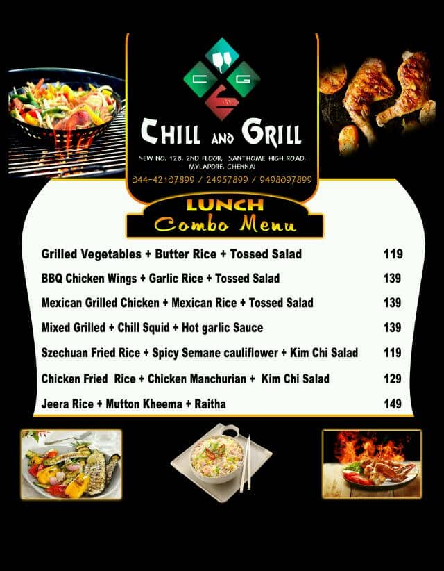 Chill and grill santhome chennai restaurant zomato for The food bar zomato