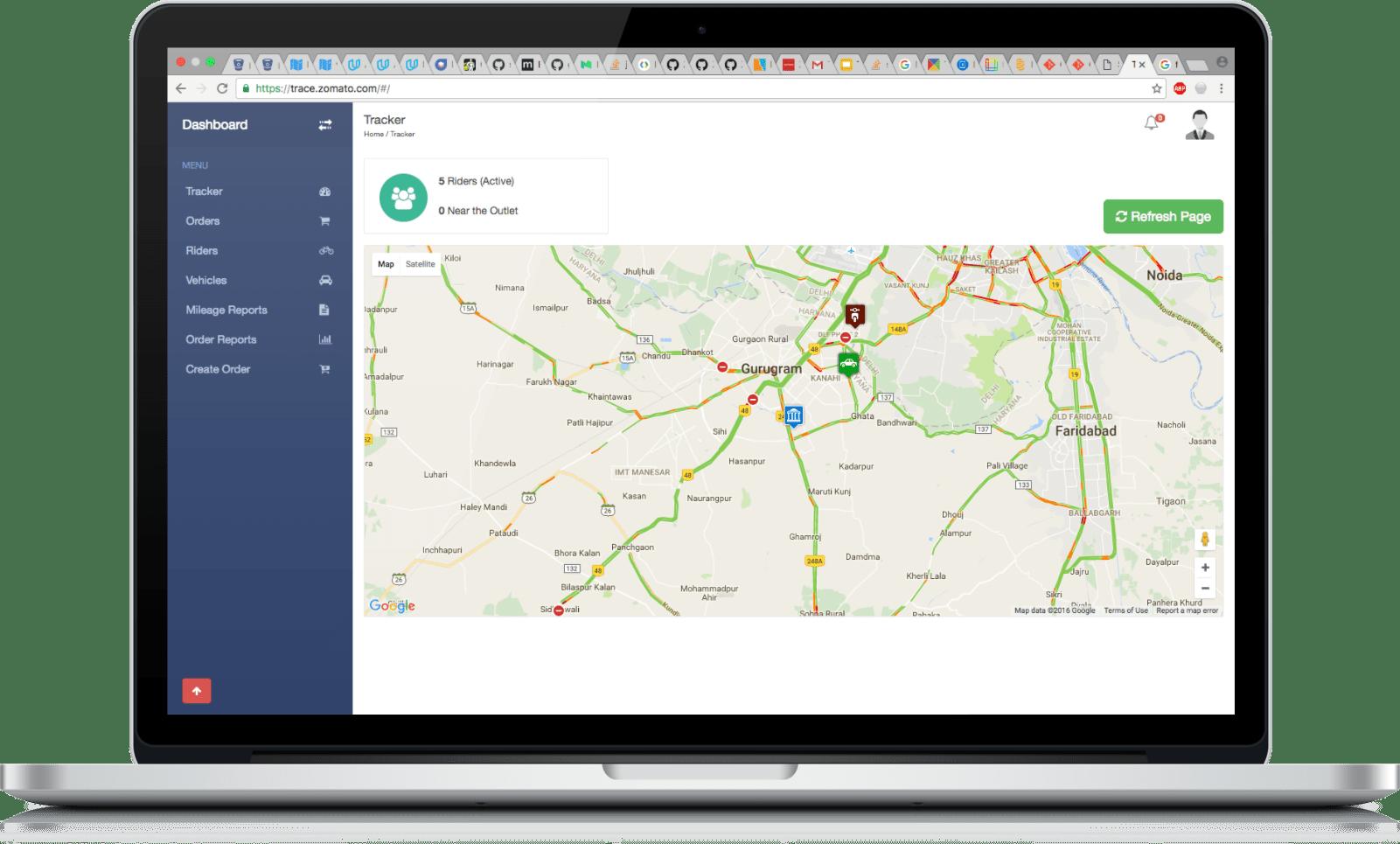 Zomato Trace - Order tracking